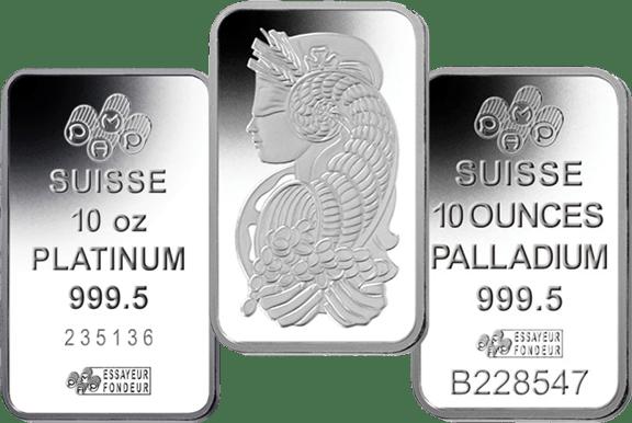 platinum palladium bars